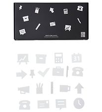 Design Letters Icons - Office - White