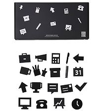 Design Letters Icons - Office - Black