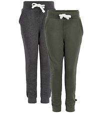 Minymo Sweatpants - 2-Pack - Charcoal/Army