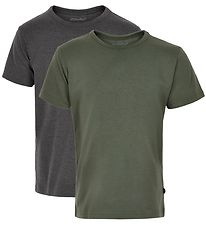 Minymo T-shirt - 2-Pack - Charcoal/Army