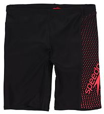 Speedo Swim Jammers - Gala Logo Panel - Black/Red