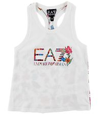EA7 Top - White w. Flowers