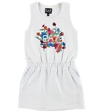 EA7 Dress - White w. Flowers