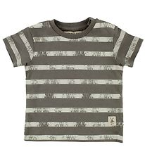 Small Rags T-shirt - Gary - Charcoal Striped