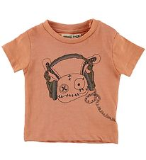 Small Rags T-shirt - Gary - Orange w. Rags