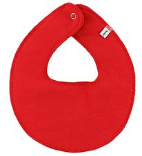 Pippi Teething Bib - Round - Red
