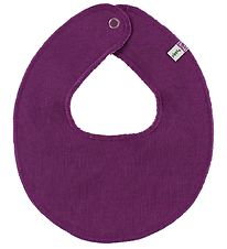 Pippi Teething Bib - Round - Plum