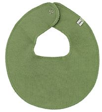 Pippi Teething Bib - Round - Dusty Green