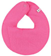 Pippi Teething Bib - Round - Dark Rose