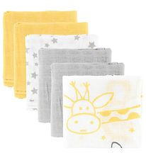 Pippi Cloth Diapers - 6-Pack - 70x70 - White/Yellow/Grey