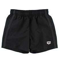 Arena Swim Trunks - Fundamentals Jr - Black w. White