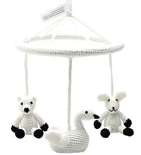 NatureZoo Baby Mobile - White w. Swan/Rabbit/Polar Bear