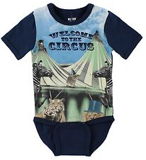 Me Too Bodysuit S/S - Navy w. Circus