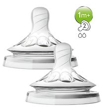 Philips Avent Baby Bottle Nipples - 2-Pack - Natural - Slow Flow