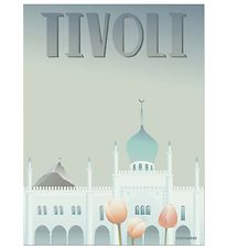 Vissevasse Poster - 30x40 - Tivoli - Light Grey