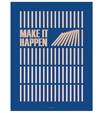 Vissevasse Poster - 30x40 - Make It Happen - Navy