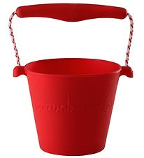 Scrunch Bucket - Silicone - 13 cm - Red