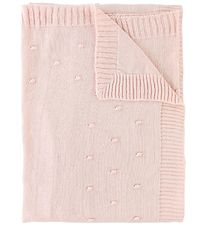 Nørgaard Madsens Blanket - Knitted - Pink w. Dots
