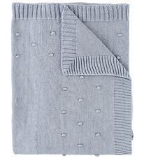 Nørgaard Madsens Blanket - Knitted - Light Blue w. Dots