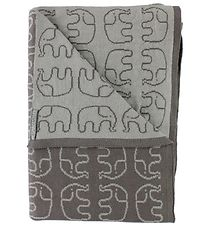 Smallstuff Blanket - 70x100 - Grey w. Elephants