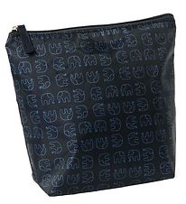 Smallstuff Toiletry Bag - Navy w. Elephants