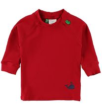 Freds World Swim Top L/S - UV50+ - Red