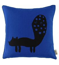 ferm Living Cushion - 30x30 - Dark Blue w. Fox