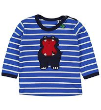 Freds World Blouse - Blue Striped w. Hippo