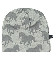 Freds World Beanie - Grey Melange w. Horses