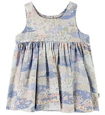 Wheat Dress - Pinafore - Pink/Blue w. Flowers