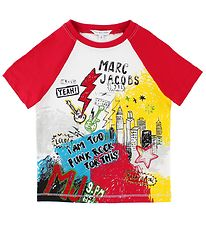 Little Marc Jacobs T-shirt - White/Red w. Print