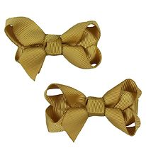 Bows By Stær Hair Clip Bow - 2-Pack - 6 cm - Mustard