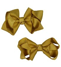 Bows By Stær Bow Hair Clips - 2-Pack - 8 cm - Dijon