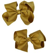 Bows By Stær Bow Hair Clips - 2-Pack - 10 cm - Dijon
