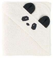 Liewood Hooded Towel - 70x70 - Albert - Ivory Panda