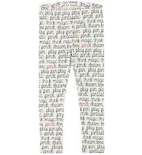 Fendi Kids Leggings - White Check w. Text