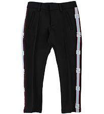 Fendi Kids Trousers - Black w. Side Stripe