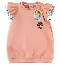 Fendi Kids Dress - Coral w. Ruffles/French Fries