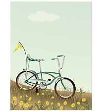 Vissevasse Poster - 30x40 - Bike With A Flag