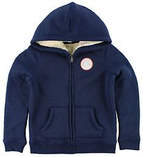 Roxy Zip Thru Hoodie - Feel Here Breath - Navy