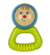 Haba Rattle - Wood - Green/Turquoise