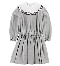 Fendi Kids Dress - Sweat - Grey Melange w. Hearts