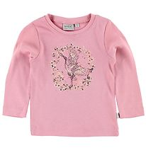 Wheat Long Sleeve Top - Rose w. Print