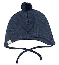 CeLaVi Baby Hat - Wool/Lyocell - Quilted - Navy