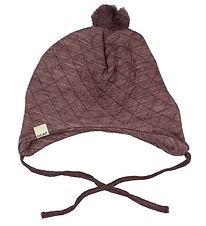 CeLaVi Baby Hat - Wool/Lyocell - Quilted - Bordeaux