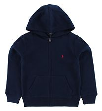 Polo Ralph Lauren Zip Thru Hoodie - Sweat - Navy w. Logo
