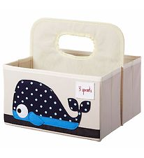 3 Sprouts Storage Basket w. Handles - 25x28x26 - Whale
