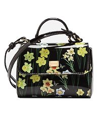 Dolce & Gabbana Shoulder Bag - Black w. Flowers