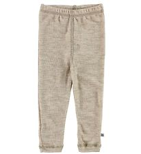 Smallstuff Leggings - Wool - Sand w. Elephants