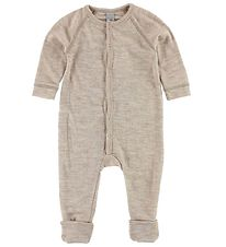 Smallstuff Nightsuit - Wool - Sand/Elephants